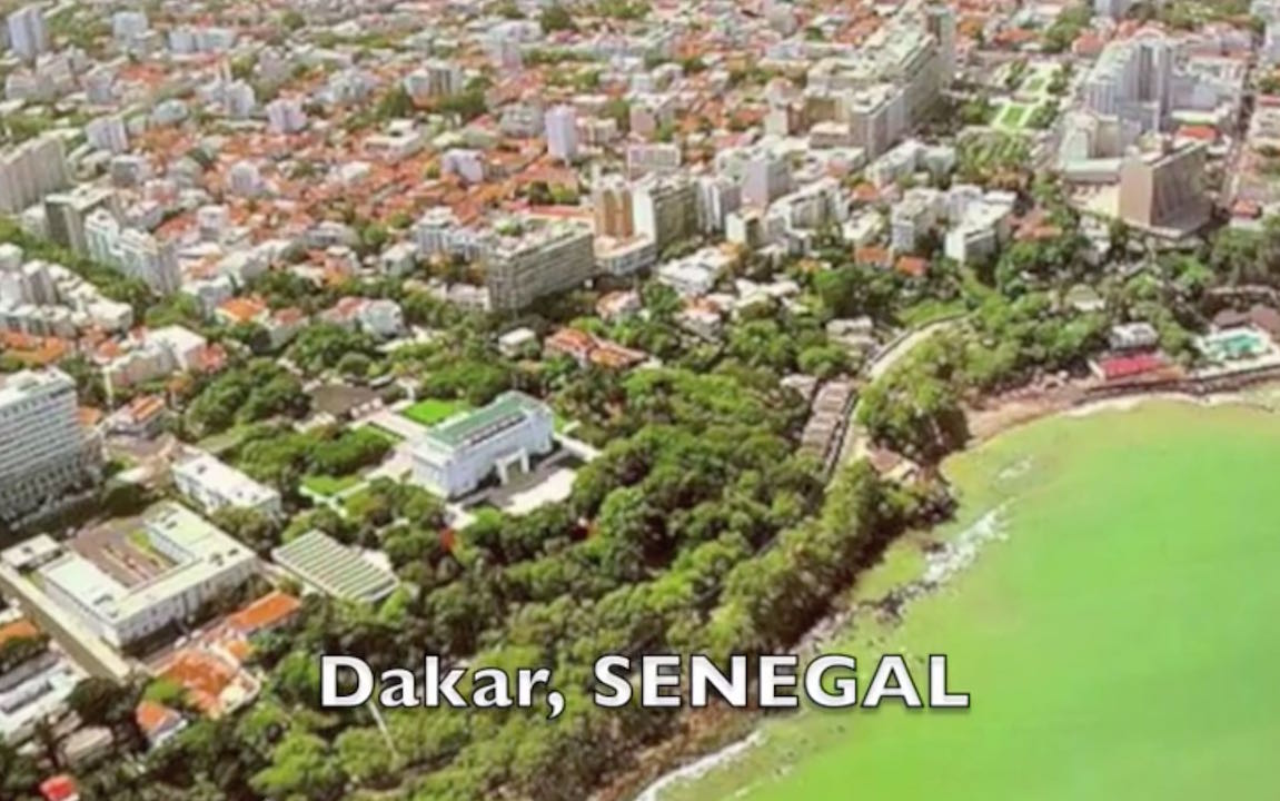 Senegal, located in west Africa