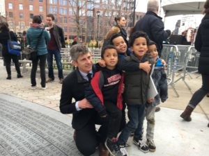 Paul and his nephews came to visit and support him at the unveiling of the Memorial he helped created.